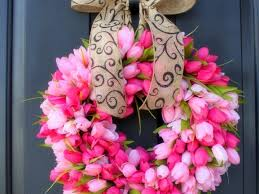 flowers four wreath wreaths flowers lovely seasons bow holiday