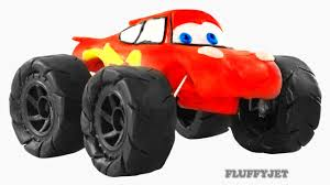 monster trucks videos lightning mcqueen monster truck video for kids youtube