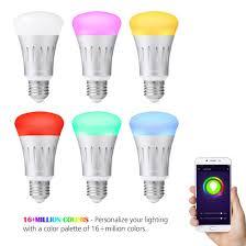 alexa compatible light bulbs cairondin smart wifi light bulb 7w e27 wifi smart led bulb