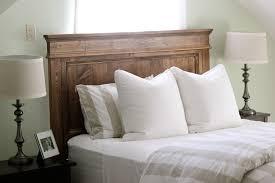 wood king size headboard bedroom mesmerizing design ideas using rectangular blue stripes
