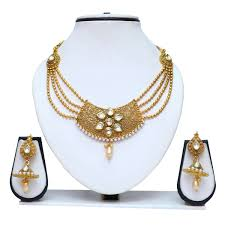 gold necklace set jewellery images Pearl necklace set designs fashion jewellery necklace designs jpg