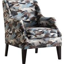 blue ikat accent chairs you u0027ll love wayfair