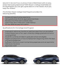 nissan finance usa contact college graduate program wolfchase nissan bartlett tn