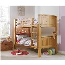 Cloudseller FT SOLID PINE BUNK BED IN WAXED FINISH SPLIT INTO TWO - Solid pine bunk bed