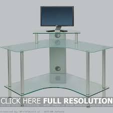 Small Glass Corner Desk Corner Glass Desk Computer Desk With Printer Storage Office Depot