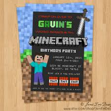 best minecraft invitations party products on wanelo