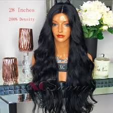 are there any full wigs made from human kinky hair that is styled in a two strand twist for black woman 200 26 inch long human hair lace front wigs black women wet wavy