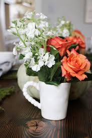 fall table decor ideas sincerely sara d the mugs from the bettina white dot dish set make perfect little vases for my flowers