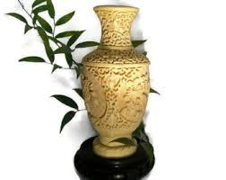 Cinnabar Vases Chinese Cinnabar Lacquer Vase Red Cinnabar Vase Carved