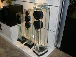 Glass Floor L Waterfall Audio Glass Floorstanding Speakers Pictured Left To