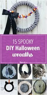 halloween wreaths diy 15 spooky diy halloween wreaths tip junkie