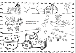 coloring pages farm animals colouring sheets pdf for free online
