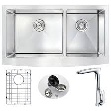 Kitchen Sink And Faucets by Vigo All In One Matte Stone Farmhouse 33 In 0 Hole Kitchen Sink
