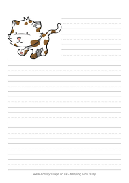 printable animal lined paper writing paper
