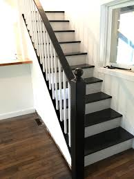 Black And White Laminate Floor Facci Designs How To Paint A Staircase Black U0026 White Before And