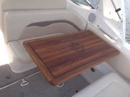 boat tables for cockpit teak cockpit table boat talk chaparral boats owners club