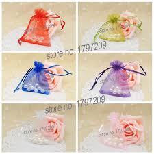 wedding gift bag aliexpress buy free shipping 40pcs 8 10cm 6colors organza