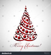 merry christmas card beautiful tree ribbons stock vector 344922875