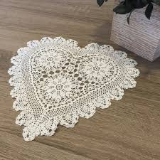 heart shaped doilies strawberry heart shaped doilies white 10 inch accent linens