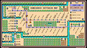 Super Mario World Map by Vancouver Skytrain Map U2013 Super Mario 3 Style U2013 Dave U0027s Geeky Ideas