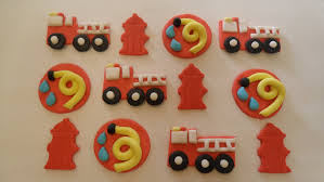firefighter cupcake toppers fondant firefighter cupcake toppers