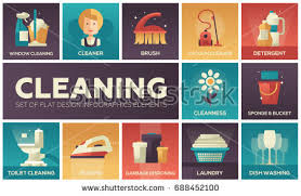 laundry line design cleaning modern vector line design icons stock vector 2018