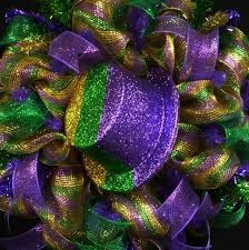 mardi gras items mardi gras wreath mg top hat wreath purple emerald gold 982