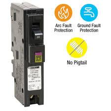square d homeline 20 amp single pole plug on neutral dual function