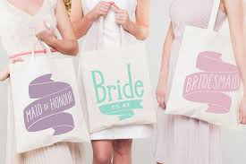 bridesmaid bags bridesmaid canvas tote bag wedding in a teacup