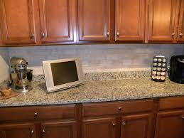 kitchen befitting khaki glass subway tile modern kitchen