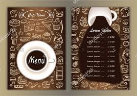 menu design of cafe cafe menu design template world of printable and chart