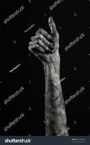 terrible zombie hands dirty hands mummy stock photo 226862920