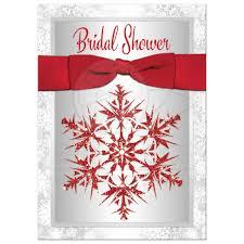 holiday wedding invitations bridal shower invitation red gray white simulated glitter