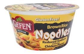 gefen noodles gefen brown rice noodle bowl chicken flavor the gluten freedom