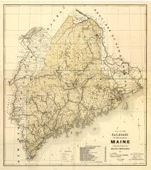 Vintage Maps Old Maps Maine Large State Maps