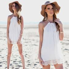 white bohemian summer dress naf dresses