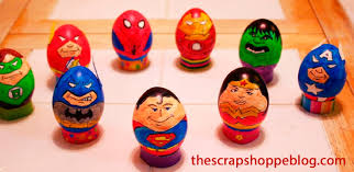 decorate easter eggs with cartoon characters easter activities