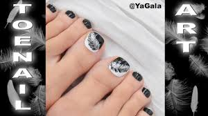 black and white toenail art педикюр дизайн youtube