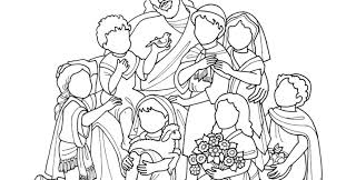 jesus and the little children coloring page audio bible story and