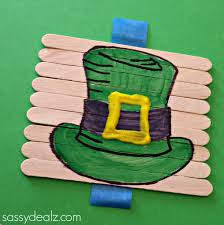 st patrick u0027s day popsicle stick craft diy puzzles crafty morning