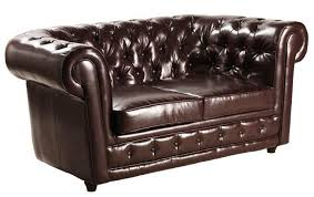 canap chesterfield 2 places cuir canape chesterfield deluxe 2 places cuir marron capitonne