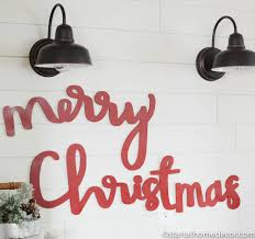 merry christmas typography word cutout mdf word sign