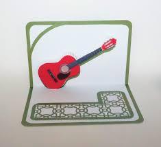 christmas acoustic guitar 3d pop up card original design