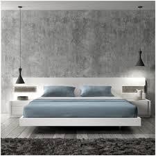bedroom modern black platform bed with led lighting king