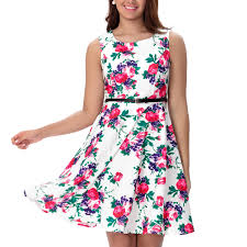 women boat neck sleeveless 1950 u0027s vintage floral party cocktail