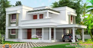 simple but beautiful flat roof house kerala home design floor