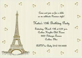 eiffel tower invitations eiffel tower birthday invitation for