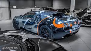 bugatti veyron super sport black chrome bugatti veyron super sport by sticker city gtspirit
