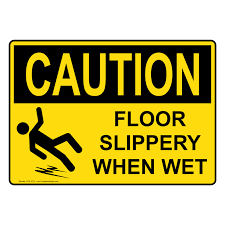 Wet Floor Images by Osha Caution Floor Slippery When Wet Sign Oce 3215 Slippery When Wet