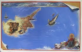 Map Of Cyprus Antiochian Village Gifts Chocheli Map Of Cyprus Print